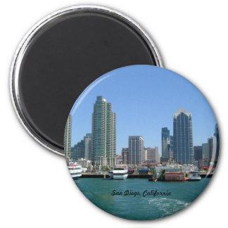 San Diego Skyline 2 Inch Round Magnet
