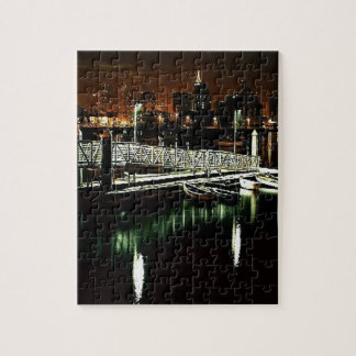 San Diego Skyline at Night Jigsaw Puzzle