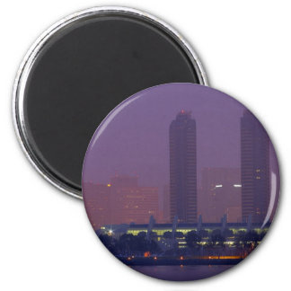San Diego Skyline City Cities Fog Morning Magnet