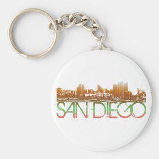 San Diego Skyline Design Keychain