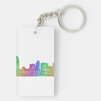 San Diego skyline Double-Sided Rectangular Acrylic Keychain