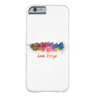 San Diego skyline in watercolor Barely There iPhone 6 Case