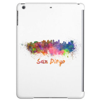 San Diego skyline in watercolor Cover For iPad Air