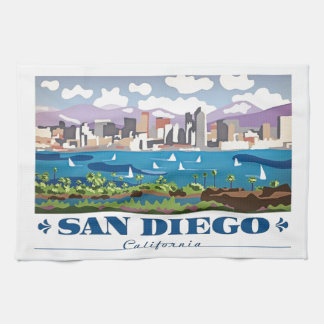 San Diego Skyline Kitchen Towel