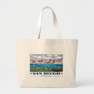 San Diego Skyline Large Tote Bag