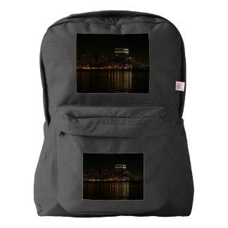 San Diego Skyline Night Backpack