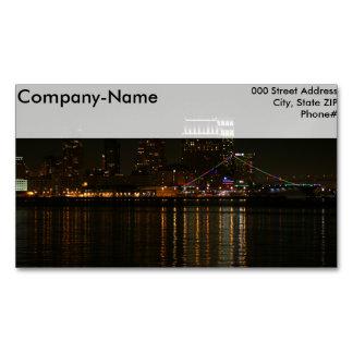 San Diego Skyline Night Business Card Magnet