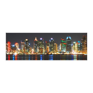 San Diego Skyline @ Night - California Canvas Print