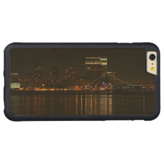 San Diego Skyline Night Carved® Maple iPhone 6 Plus Bumper Case