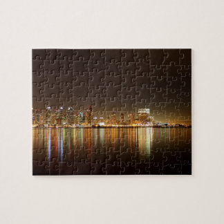 San Diego Skyline Night Jigsaw Puzzle