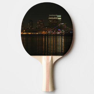 San Diego Skyline Night Ping Pong Paddle