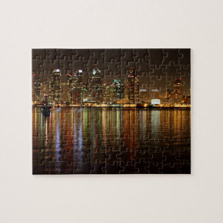 San Diego Skyline Night Puzzles