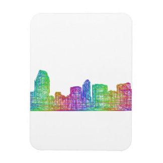 San Diego skyline Rectangular Photo Magnet