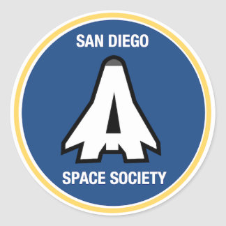 San Diego Space Society circle Classic Round Sticker