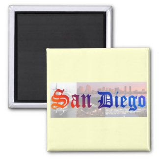 San Diego Square Magnet