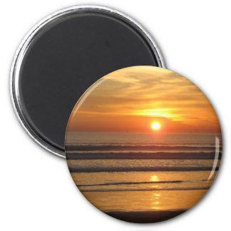 San Diego Sunset 2 2 Inch Round Magnet
