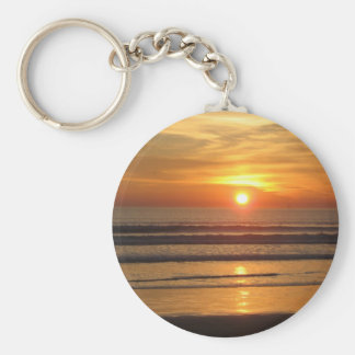 San Diego Sunset 2 Basic Round Button Keychain