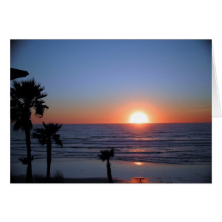 San Diego Sunset at Pacific Beach 2 Card