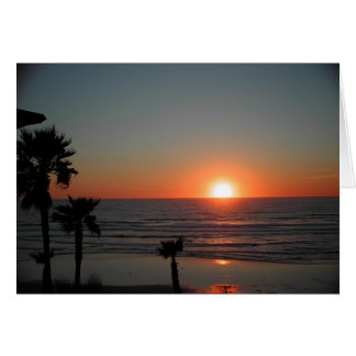 San Diego Sunset at Pacific Beach Card