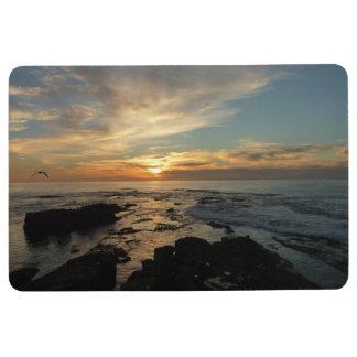 San Diego Sunset I California Seascape Floor Mat