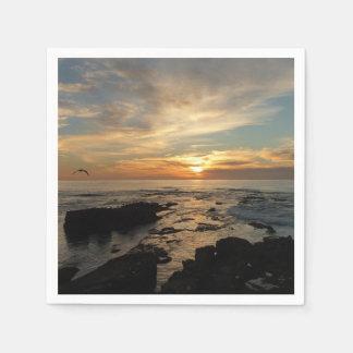 San Diego Sunset I California Seascape Paper Napkins