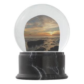 San Diego Sunset I California Seascape Snow Globe