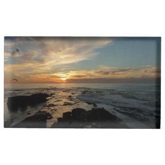 San Diego Sunset I California Seascape Table Card Holder