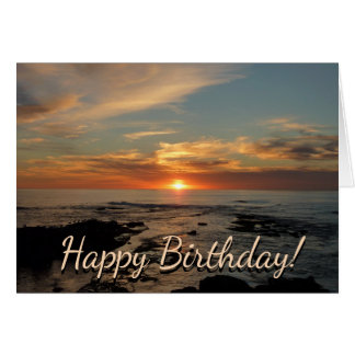 San Diego Sunset II Birthday Card (Blank Inside)