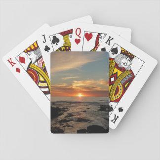 San Diego Sunset II California Seascape Poker Deck