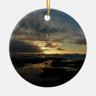 San Diego Sunset III Stunning California Landscape Ceramic Ornament