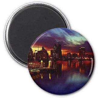 San Diego Sunset Skyline 2 Inch Round Magnet
