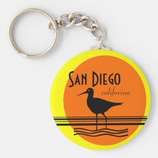 San Diego-Sunset Souvenir Basic Round Button Keychain