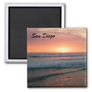 San Diego Sunset Square Magnet