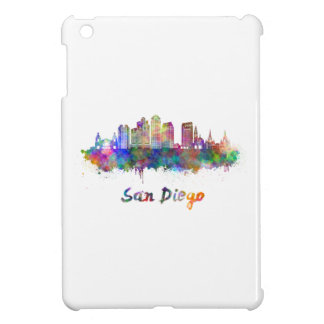 San Diego V2 skyline in watercolor Case For The iPad Mini