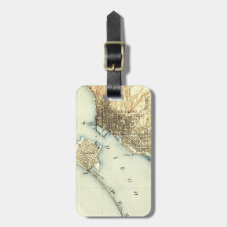 San Diego Vintage Map Luggage Tag