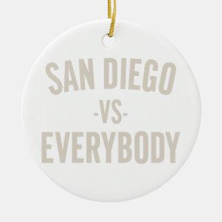 San Diego Vs Everybody Ceramic Ornament