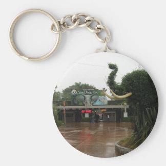 San Diego Zoo Basic Round Button Keychain