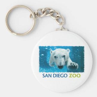 San Diego Zoo Polar Bear Basic Round Button Keychain