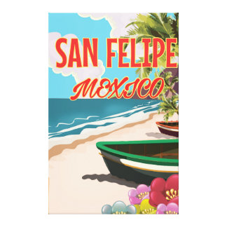 San Felipe Beach Mexico travel poster Canvas Print