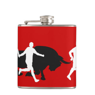San Fermin, Pamplona: running with the bulls, Flask