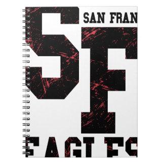San Fran eagles Spiral Notebooks