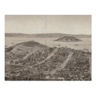 San Francisco, 1862 from Russian Hill Postcard