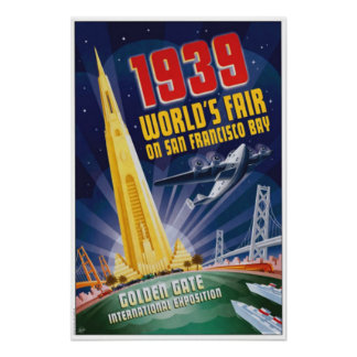 San Francisco 1939 World's Fair Vintage Poster