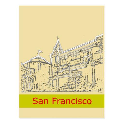 San Francisco 1986art The MUSEUM Zazzle Drawing+ Postcard