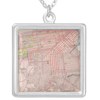 San Francisco 7 Silver Plated Necklace