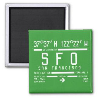 San Francisco Airport Code Magnet
