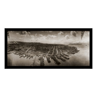 San Francisco Airship Photo 1908 Poster