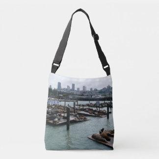 San Francisco and Pier 39 Sea Lions City Skyline Crossbody Bag
