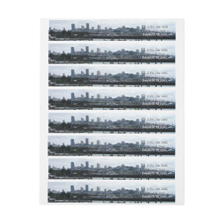San Francisco and Pier 39 Sea Lions City Skyline Wraparound Return Address Label