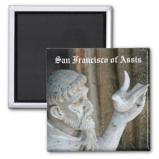 San Francisco and the dove Square Magnet